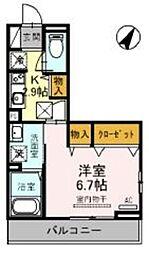 JR京浜東北・根岸線 大宮駅 徒歩19分の賃貸アパート 3階1Kの間取り
