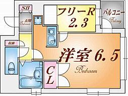 プリオーレ神戸Ⅱ[5階]の間取り