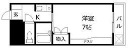 TK大橋[203号室]の間取り
