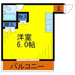 埼玉県草加市北谷3丁目の賃貸アパートの間取り