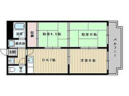三番町マンション[4階]の間取り