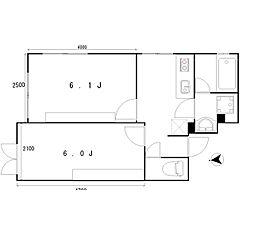 apartmentKURO三軒茶屋[3階]の間取り