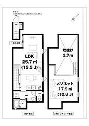 St.ives 渋谷 セントアイヴス渋谷 2階1LDKの間取り