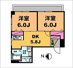 月村マンションNo12[2階]の間取り