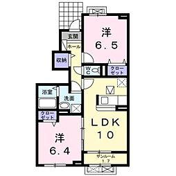 LaLe W[1階]の間取り
