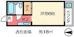 コーポイケオ[4階]の間取り