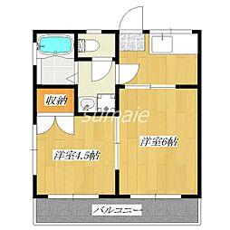 コーポ三晴[2階]の間取り