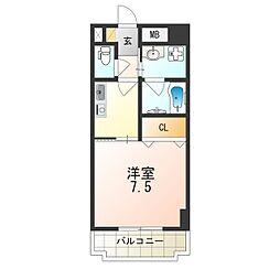 Osaka Metro中央線 大阪港駅 徒歩1分の賃貸マンション 4階1Kの間取り