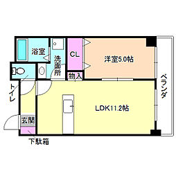 レオン光善寺[4階]の間取り