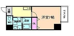 JR東西線 海老江駅 徒歩7分の賃貸マンション 8階1Kの間取り