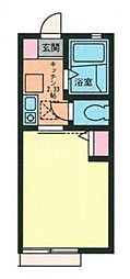 G・Aヒルズ三ツ沢下町[2階]の間取り