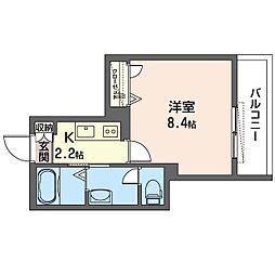 仮)新宿区中落合2丁目SHM 3階1Kの間取り