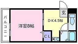 カーサベルデ[3階]の間取り