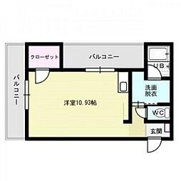 アルファービル南福岡[4階]の間取り