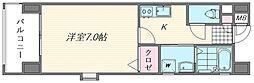 ピュアドームエタージュ箱崎[201号室]の間取り