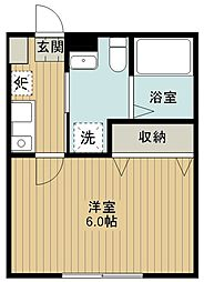 西武新宿線 西武柳沢駅 徒歩3分の賃貸アパート 1階1Kの間取り