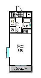 パークサイドビル[407号室]の間取り