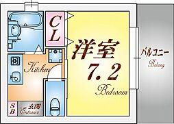 ピュアハイツGOTO[1階]の間取り
