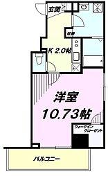 JR中央線 豊田駅 徒歩4分の賃貸マンション 7階1Kの間取り