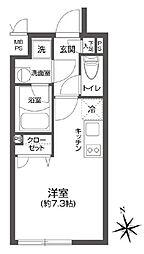 LEGALAND高円寺 4階ワンルームの間取り