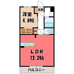 (仮称)Y&M西川田本町3丁目 2階1LDKの間取り