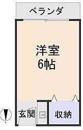 池田荘[202号室]の間取り