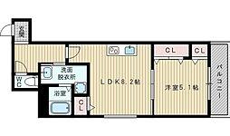 フジパレス内本町3番館[2階]の間取り