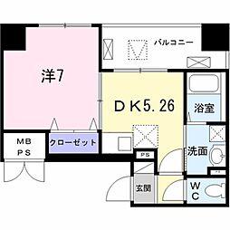 Field-V 築地 4階1DKの間取り