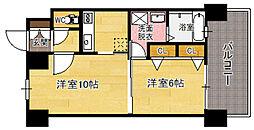エンクレスト日赤通り[2階]の間取り