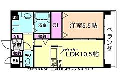 メロッソ福島[4階]の間取り