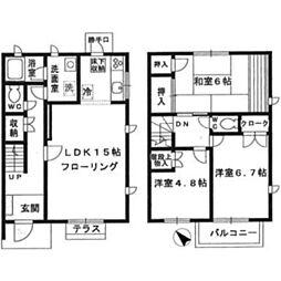 [テラスハウス] 神奈川県川崎市麻生区高石2丁目 の賃貸【/】の間取り