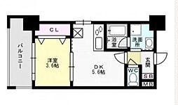 福岡県福岡市城南区別府2丁目の賃貸マンションの間取り