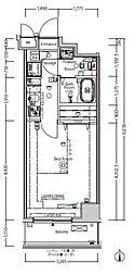 京王線 下高井戸駅 徒歩5分の賃貸マンション 2階1Kの間取り