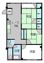 チャペルサイドアパートメント[28号室]の間取り