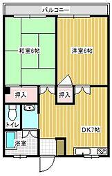 谷アパート[201号室]の間取り