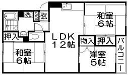 メゾンデクルール[3階]の間取り