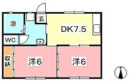 マンションみふね No.11[107号室]の間取り