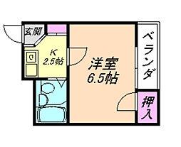 まるみマンション[3A号室]の間取り