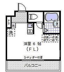 六ツ川ヒルズ[101号室]の間取り