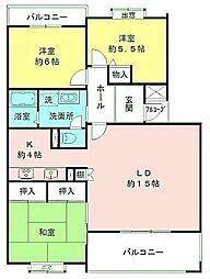 東京都八王子市別所2丁目の賃貸マンションの間取り