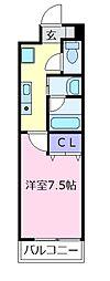 大阪府松原市天美東8の賃貸マンションの間取り