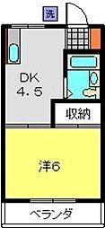 餅田ハイツ[103号室]の間取り