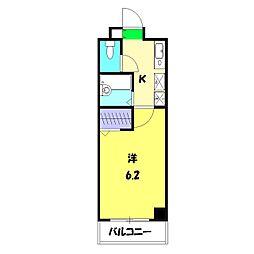 第3三基ビル[402号室]の間取り