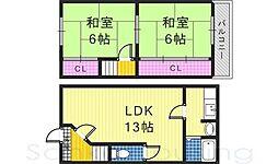 [一戸建] 大阪府堺市東区日置荘西町7丁 の賃貸【/】の間取り