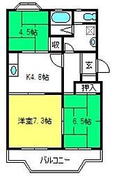 サンライフマンション[203号室]の間取り