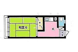 コスモマンション[203号室]の間取り
