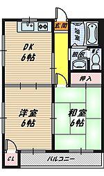 マンションコスモ[2階]の間取り