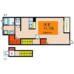 滋賀県彦根市芹橋2丁目の賃貸アパートの間取り
