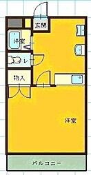 コスモハイツI[107号室]の間取り