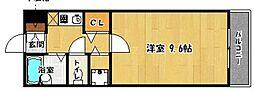 プレステージ室見[407号室]の間取り
